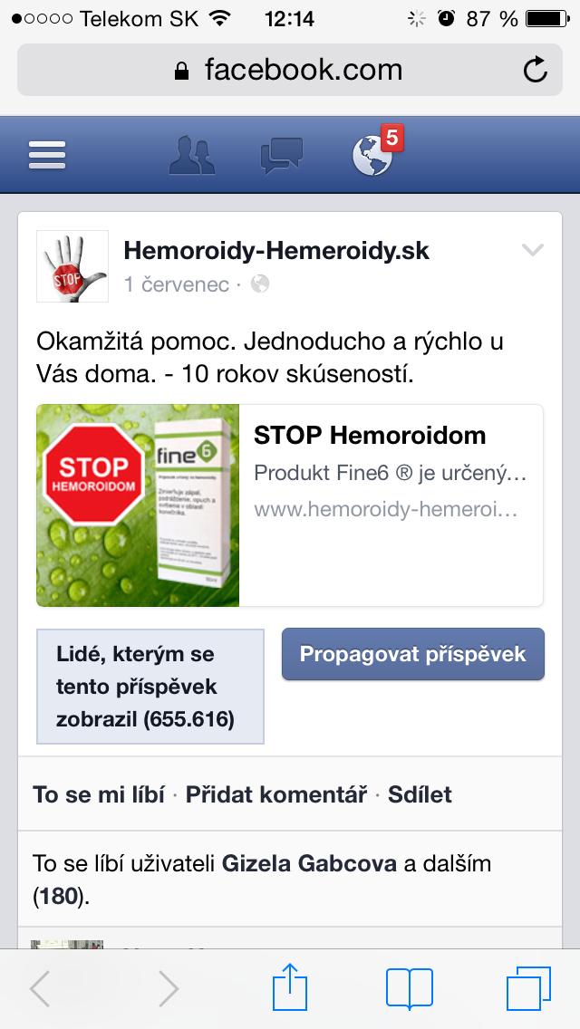 Hemoroidy obrázok